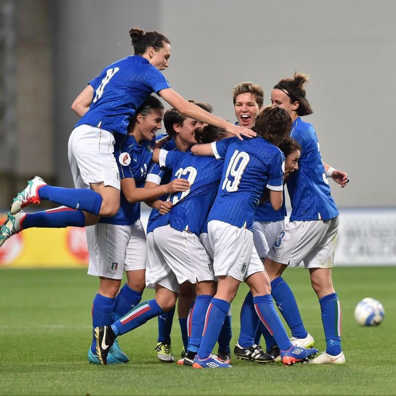 Marchitelli's Italy Women's Football Worn Kit, Euro 2017 Qualifiers