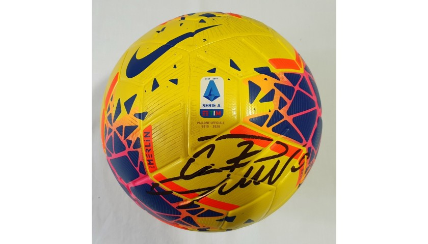 Match-Ball Juventus-Milan 2019 - Signed by Cristiano Ronaldo