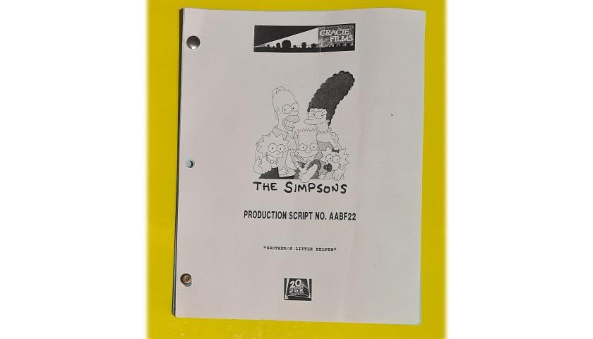 "The Simpsons Original Script - ""Brother's Little Helper"""