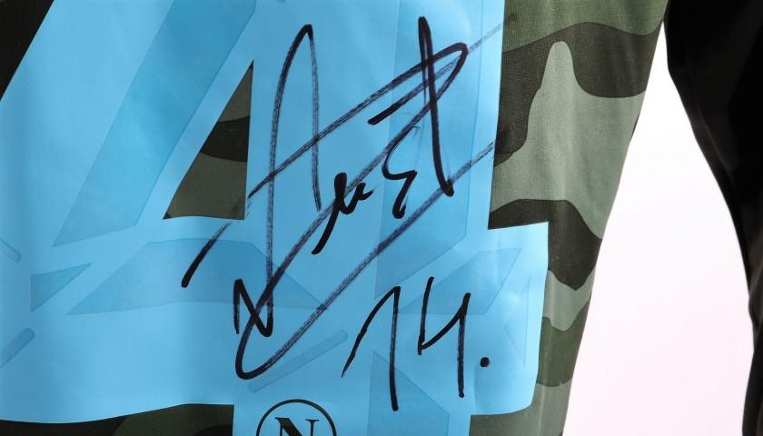 Mertens' Napoli Match-Issue Serie A 2013/14 Shirt