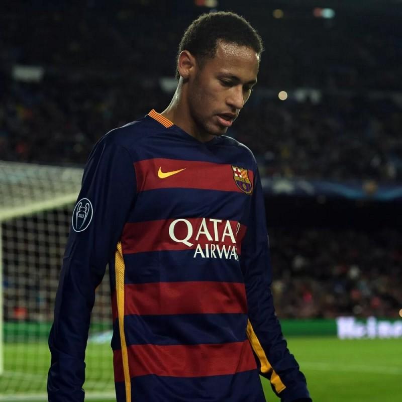 Neymar's Barcelona Signed Match Shirt, UCL 2015/16