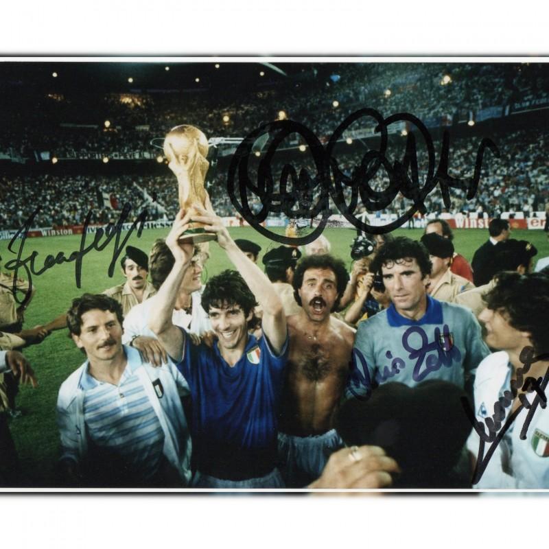 Photograph Signed by Paolo Rossi, Dino Zoff, Daniele Massaro and Franco Selvaggi