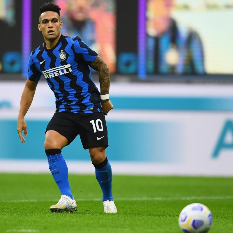 Official Lautaro Martínez Signed Inter Shirt, 2020/21