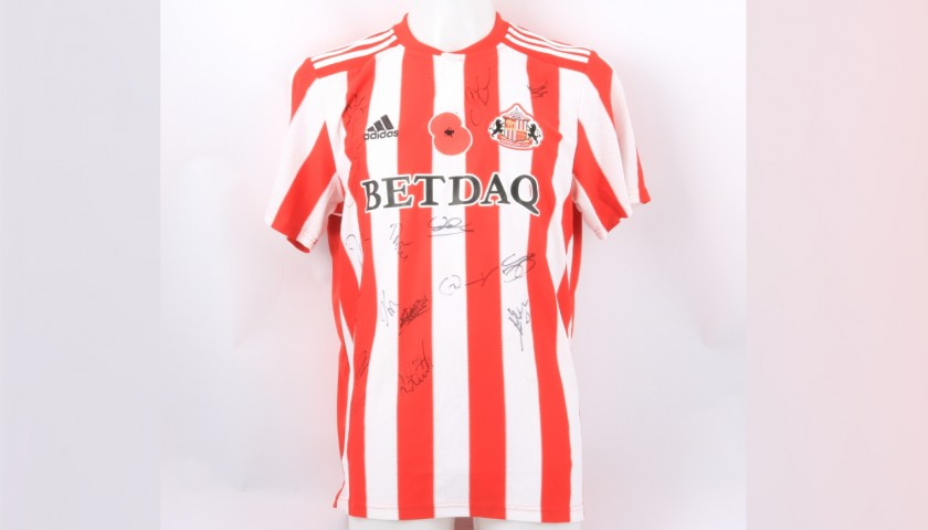 Sunderland Official Poppy Shirt Signed by the Team