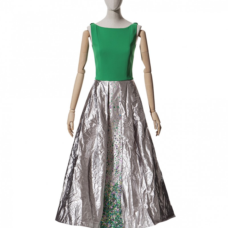 Embroidered Dress by Fely Campo
