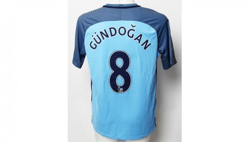 meet f47d2 1b65d İlkay Gündoğan Manchester City FC Worn Shirt and Shorts from Season 2016|17  - CharityStars