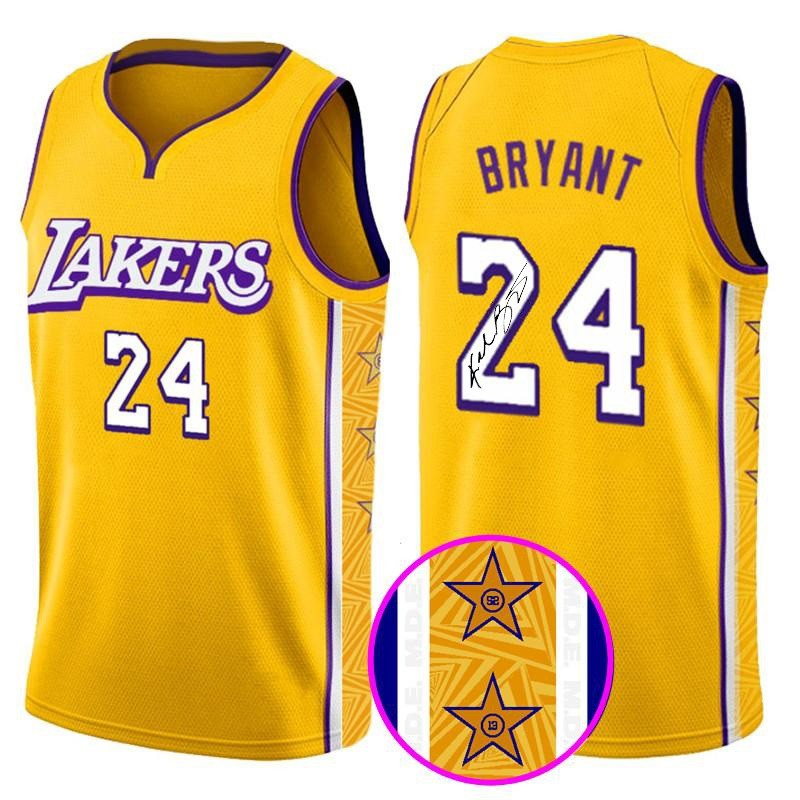 Kobe Bryant Lakers Jersey with Printed Signature