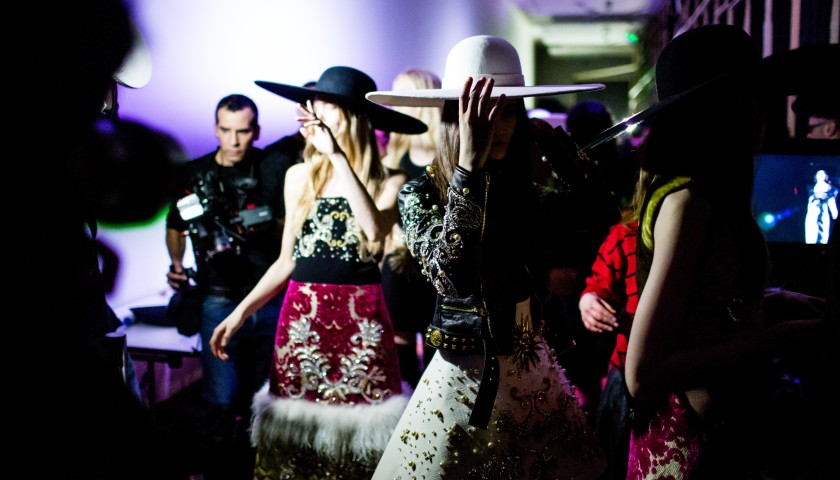 Meet Fausto Puglisi at the Puglisi Fashion Performance in Milan