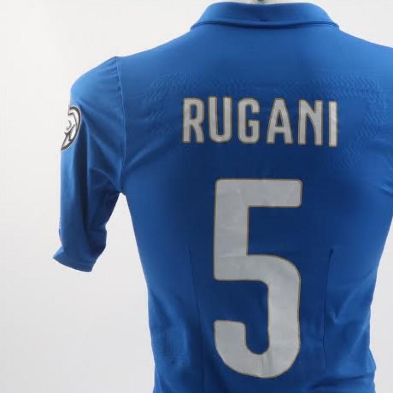 Match issued/worn Rugani shirt, Euro 2016 Qualifiers