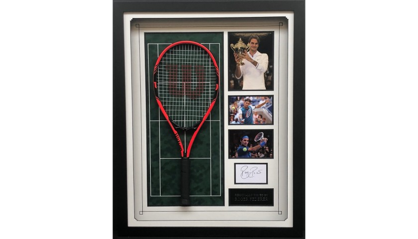 Federer Signed Racquet Display