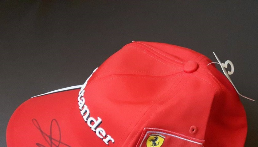 Official Team Ferrari Formula 1 Cap signed by the Sebastian Vettel in Monza  2015 f065b03f75a0