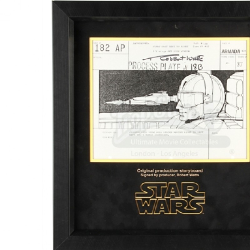 Original Star Wars Production Storyboard - Signed