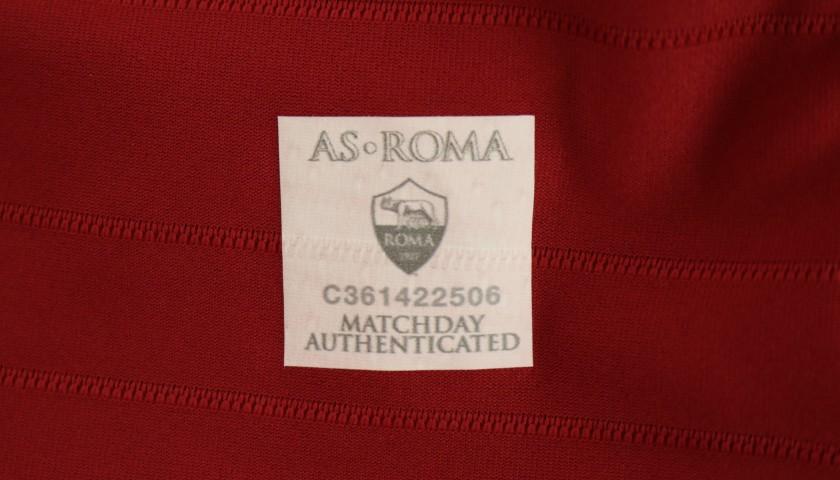 Kolarov's Worn and Signed Shirt, Roma-SPAL 2019