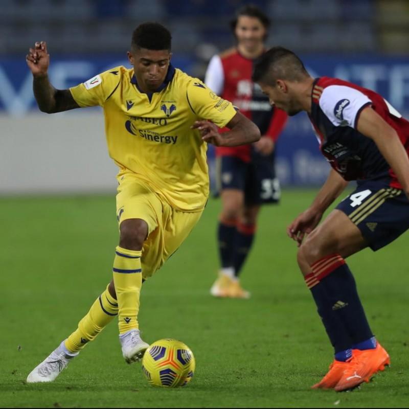 Salcedo's Worn Shirt, Cagliari-Hellas Verona - Coppa Italia 2020