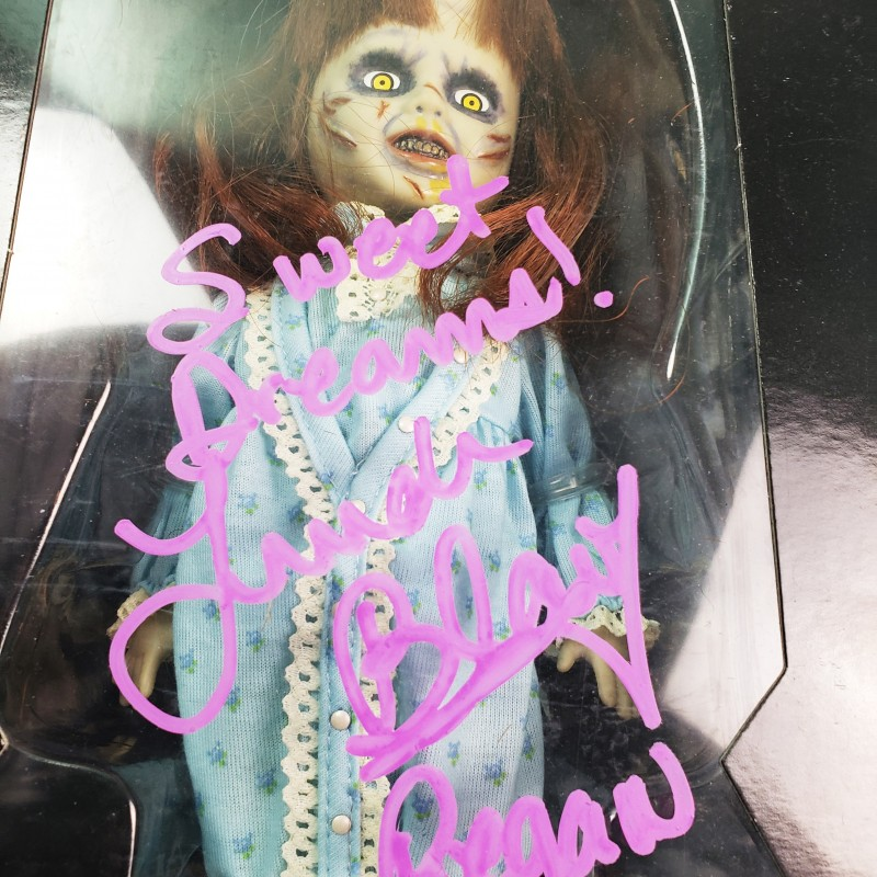 "Linda Blair ""The Exorcist"" Hand Signed Doll"