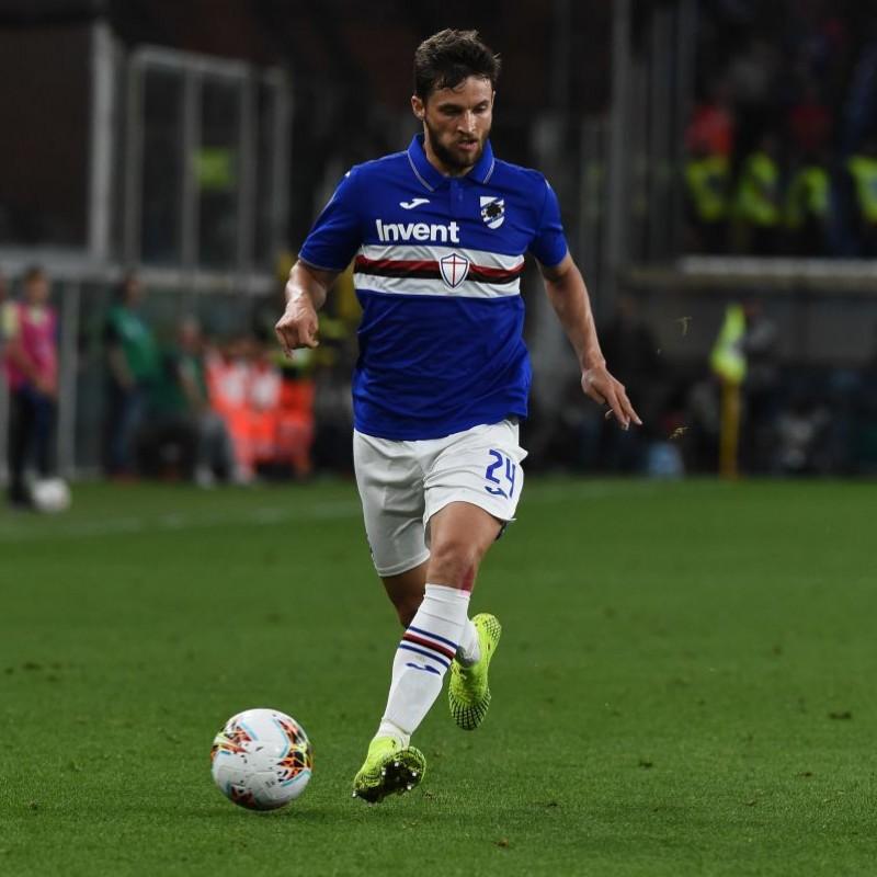 Bereszynski's Sampdoria Match-Issued Signed Shirt, 2019/20