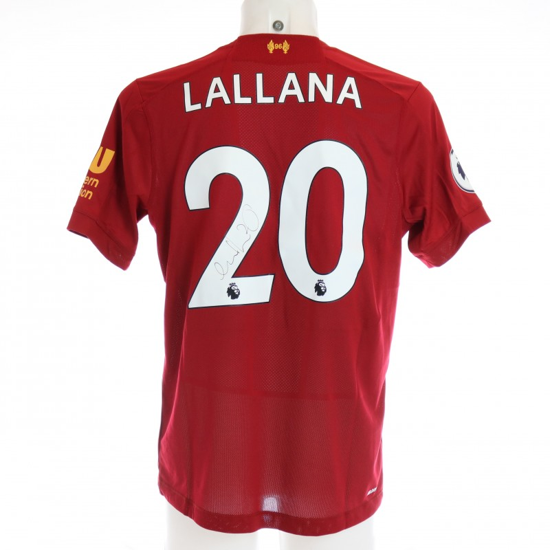 Lallana's Issued and Signed Limited Edition 19/20 Liverpool FC Shirt