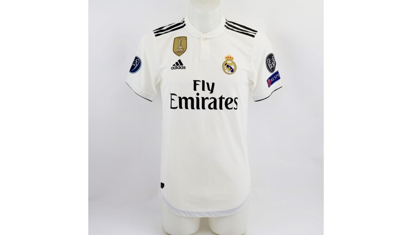 free shipping 9a709 11522 Kroos's Real Madrid Match Shirt, UCL 2018/19 - CharityStars