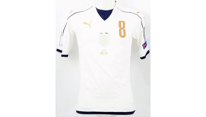 Florenzi's Match Shirt, Israel-Italy 2016
