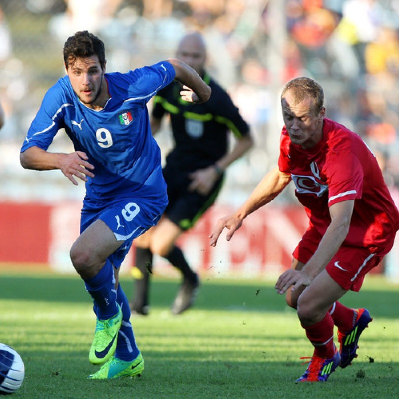 Destro's Italy U19 Match Shirt, 2010 Season