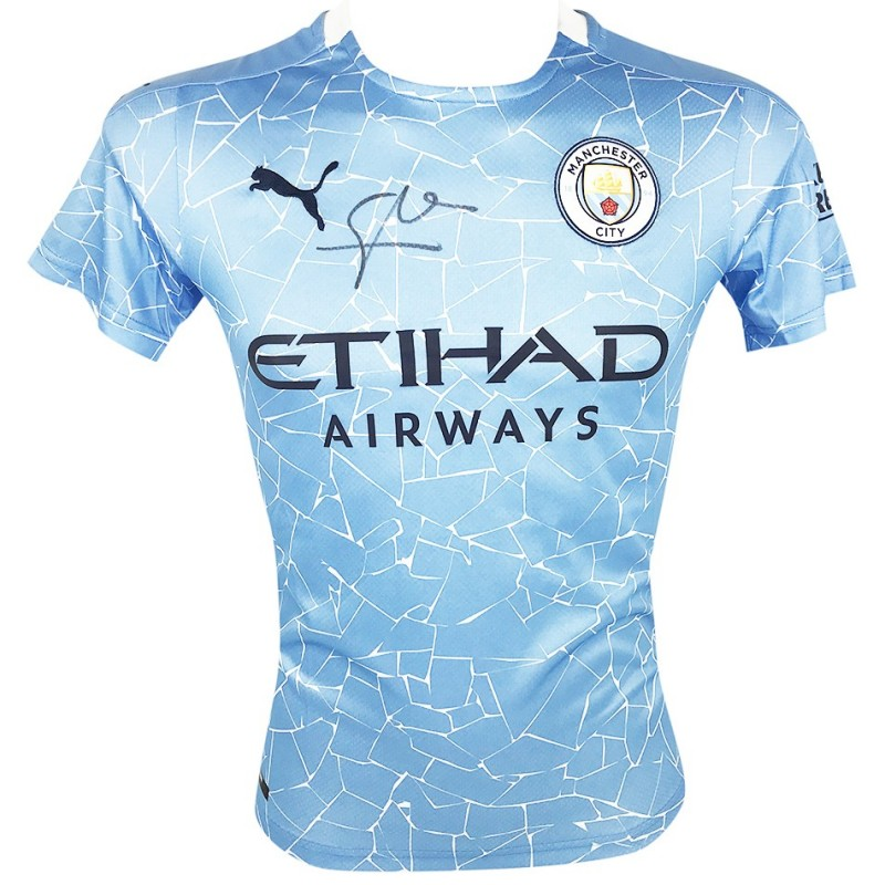 Guardiola's Man City Signed Shirt 2021