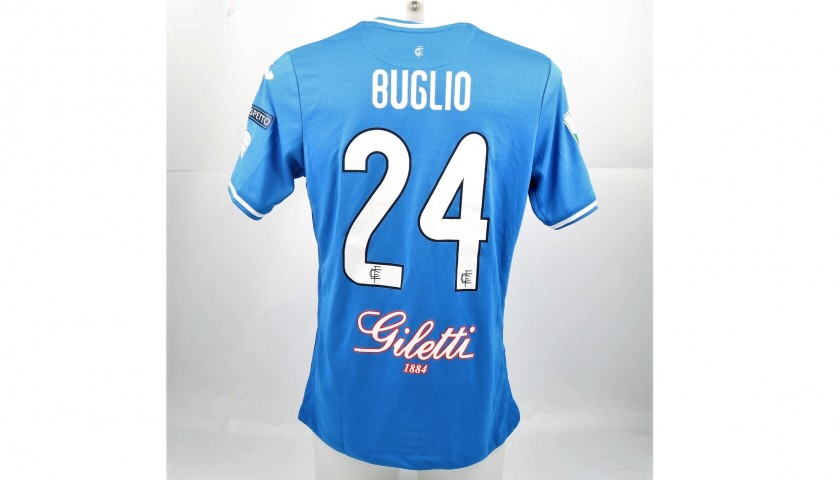 Buglio's Match-Issued Shirt from Empoli-Ascoli with a Special #AiutiamoLI Patch