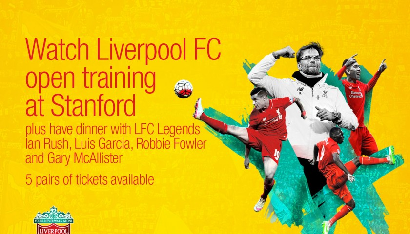 Watch LFC Open Training and Enjoy Dinner with LFC Legends