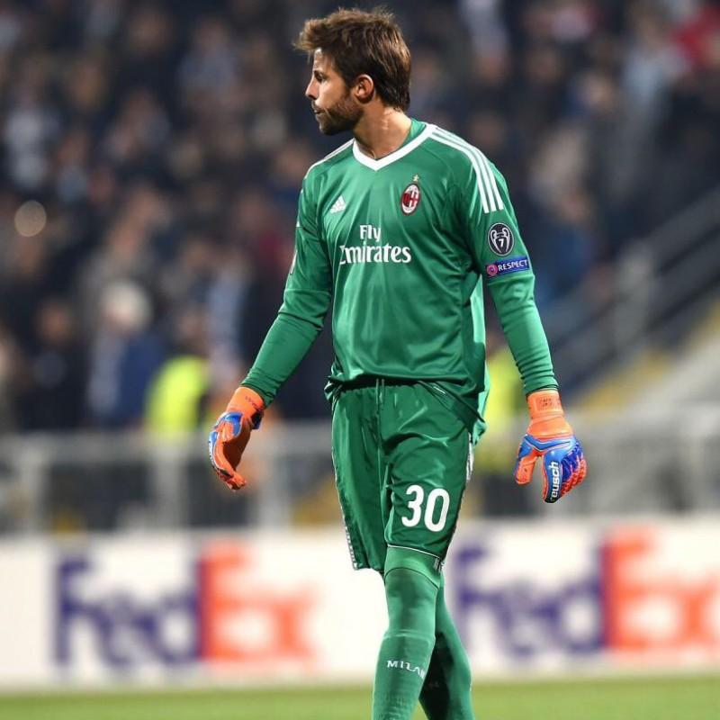 Maglia gara Storari Milan, Serie A 2017/2018