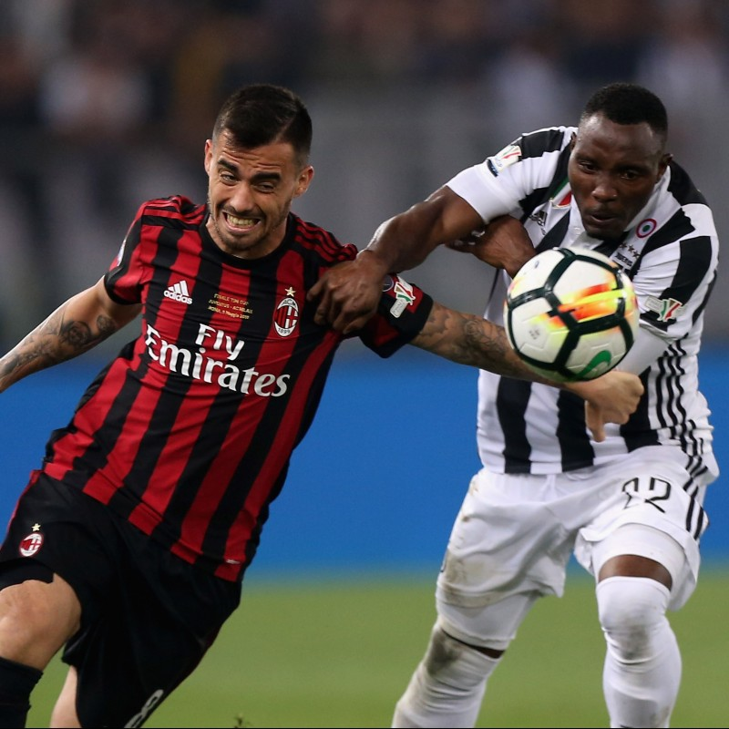 Suso's Match-Issue Juventus-Milan TIM Cup Final 2018 Shirt