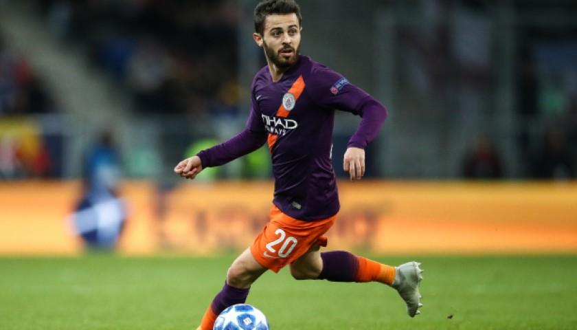Bernardo Silva's Manchester City Match Shorts Orange, Premier League 2018/19