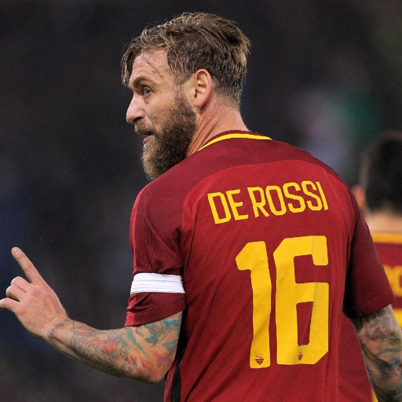 De Rossi's Official Roma Signed Shirt, 2017/18