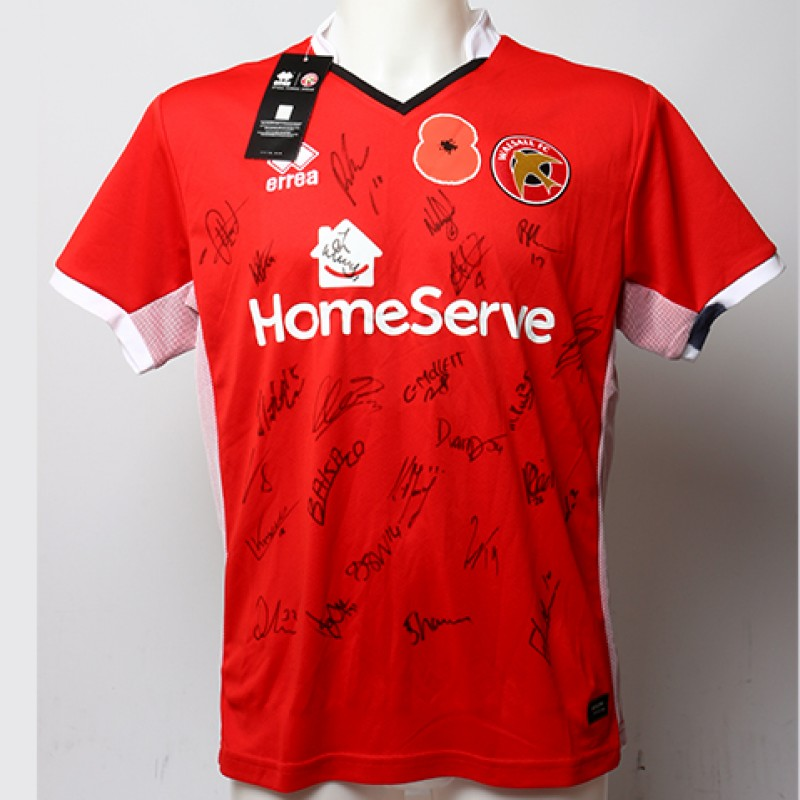 Poppy Shirt Signed by Walsall F.C.