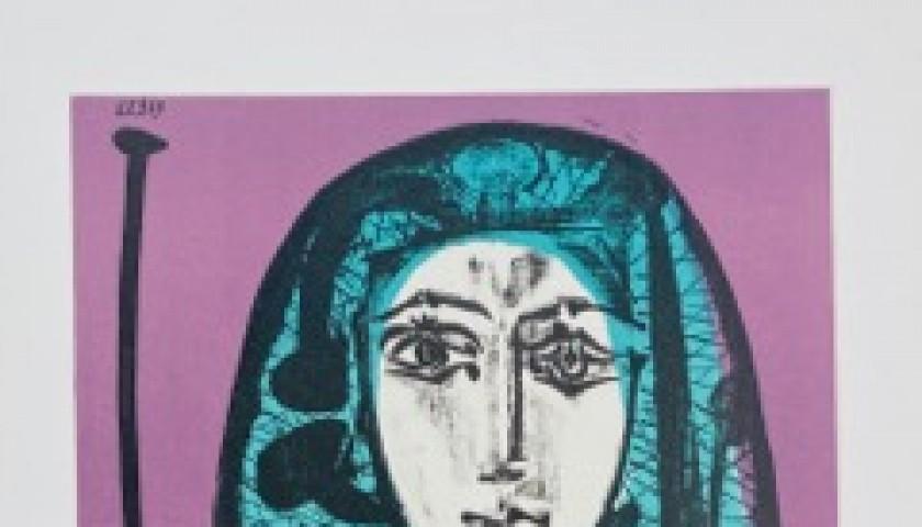 """""""La Femme a La Resille"""" by Pablo Picasso"""