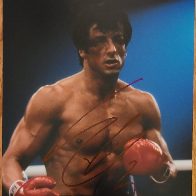 """Sylvester Stallone """"Rocky"""" Hand Signed Photograph"""
