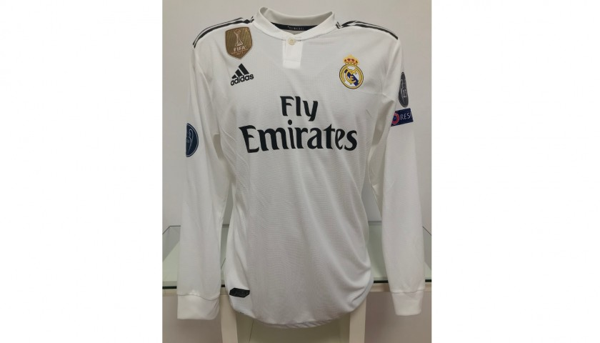 Official Sergio Ramos Real Madrid Signed Shirt, 2018/19 - CharityStars