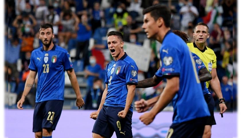 Raspadori's Match Shirt, Italy-Lithuania 2021