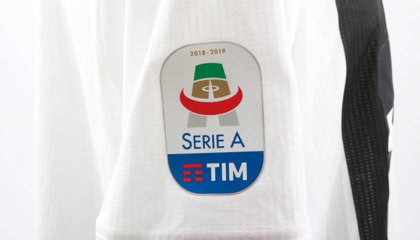 Chiellini's Worn Shirt with Special UNICEF Patch, Fiorentina-Juventus