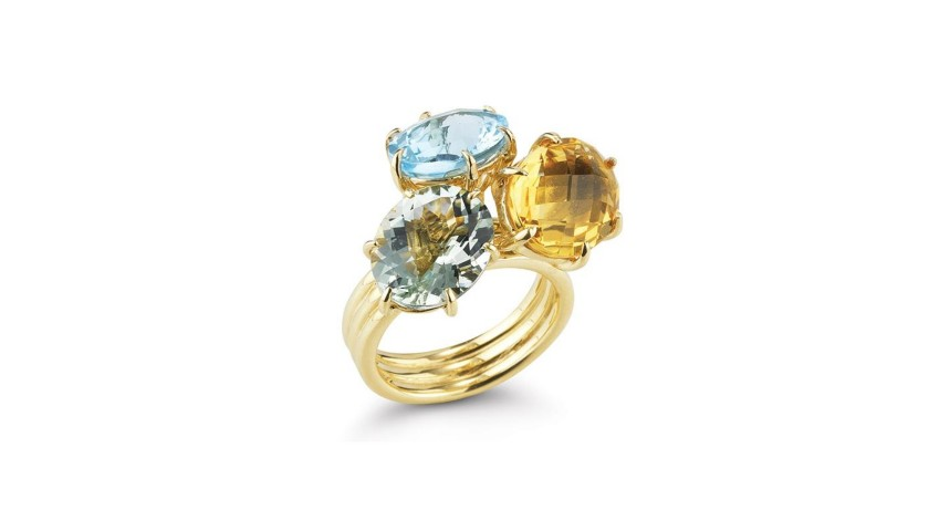 14 Karat Yellow Gold Polished Finish Gallery Ring