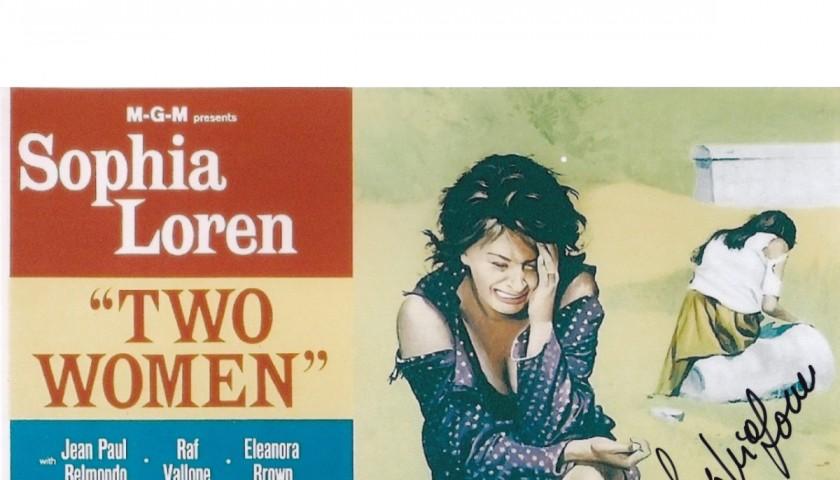 """Two Women"" Photograph Signed by Sophia Loren"