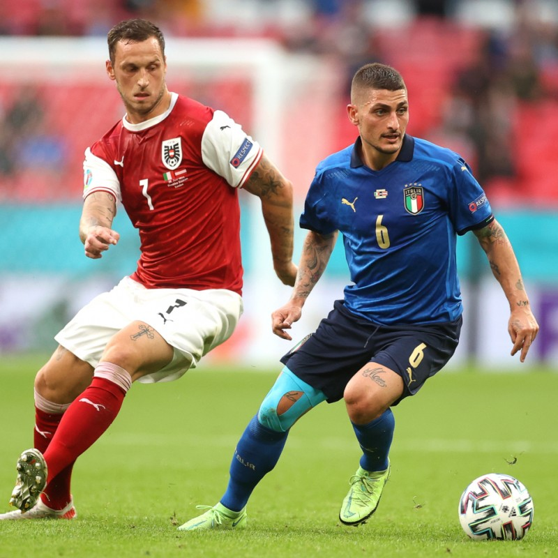 Verratti's Match Shirt, Italy-Austria 2021