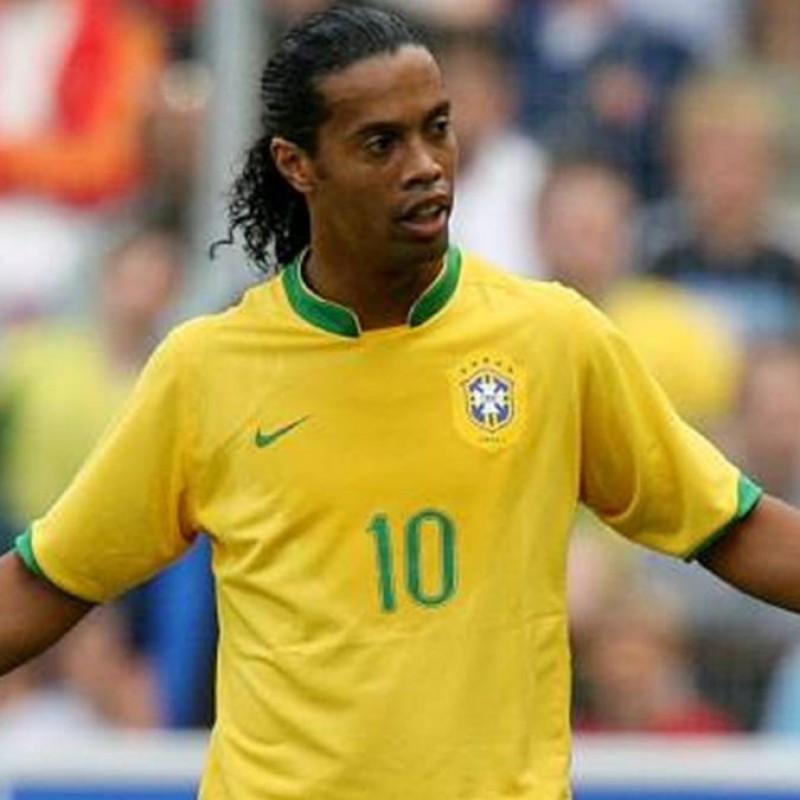 Ronaldinho's Official Brazil Signed Shirt, 2006
