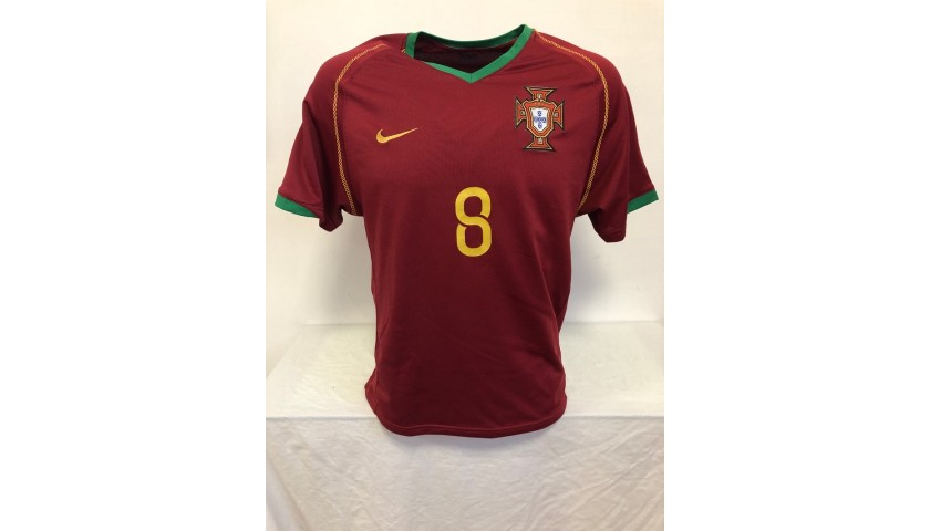 Deco's Official Portugal Signed Shirt, 2006/08