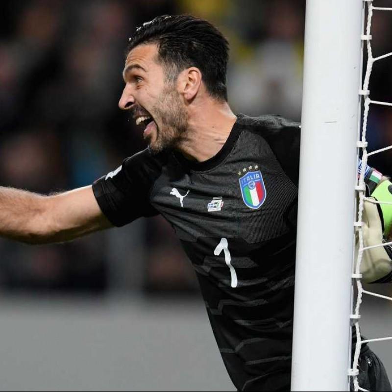 Buffon's Match Shirt, Sweden-Italy 2018