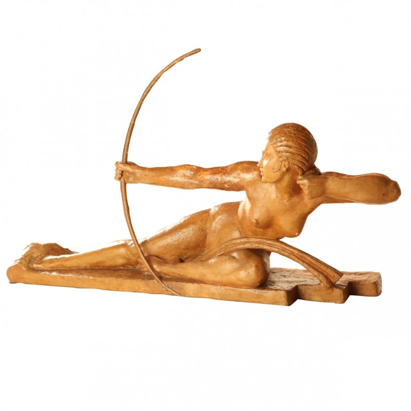 Terracotta Sculpture of Archer by Marcel Bouraine