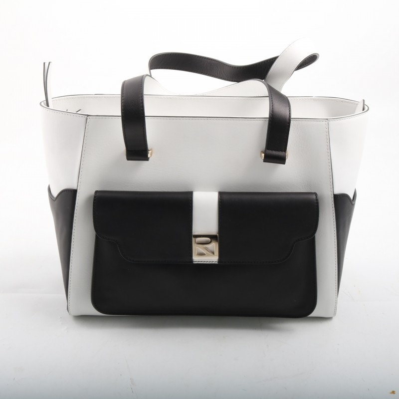 Fratelli Rossetti Black and White Purse