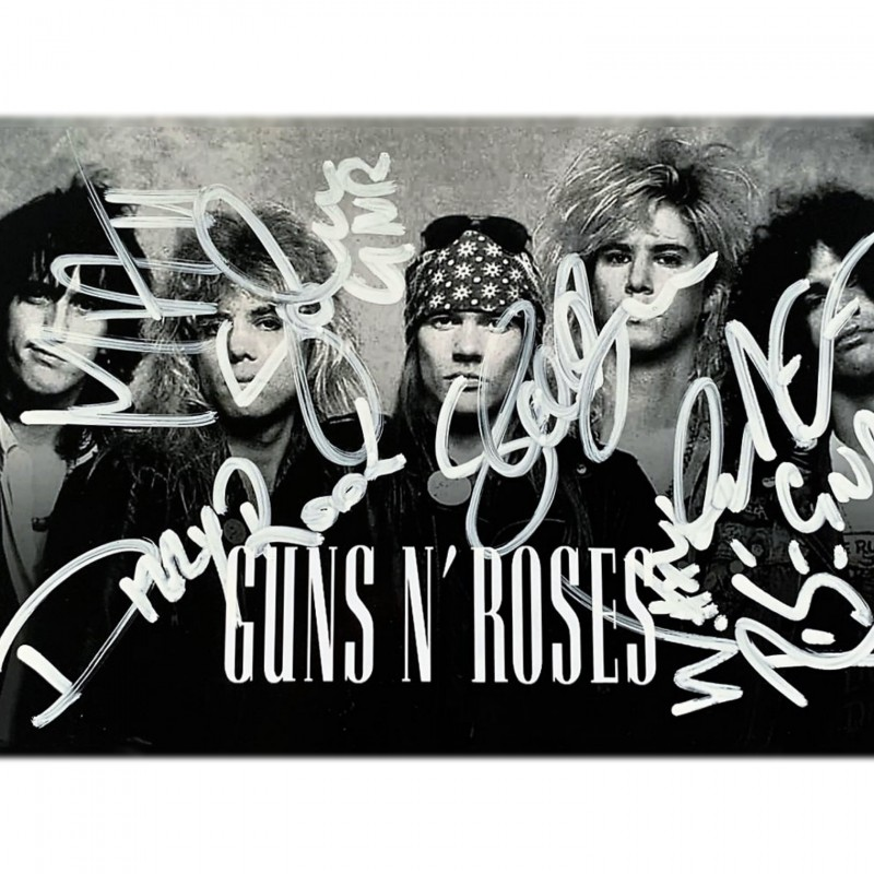 Guns N' Roses Signed Photograph