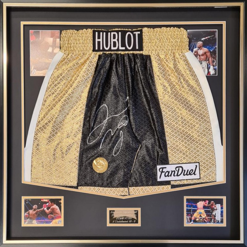 Floyd Mayweather Signed Replica Boxing Trunks