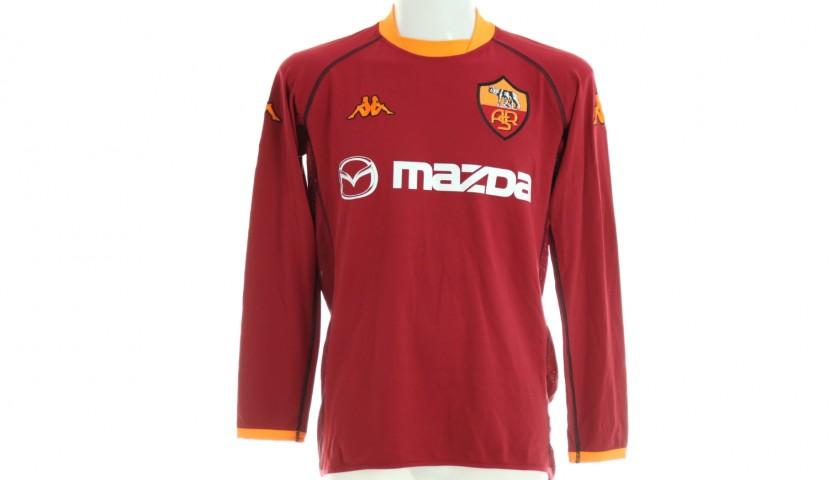 Candela's Roma Signed Match Shirt, 2002/03