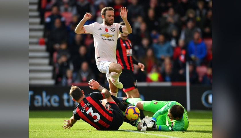 Mata's Poppy Match Shirt, Bournemouth vs Man Utd 2018