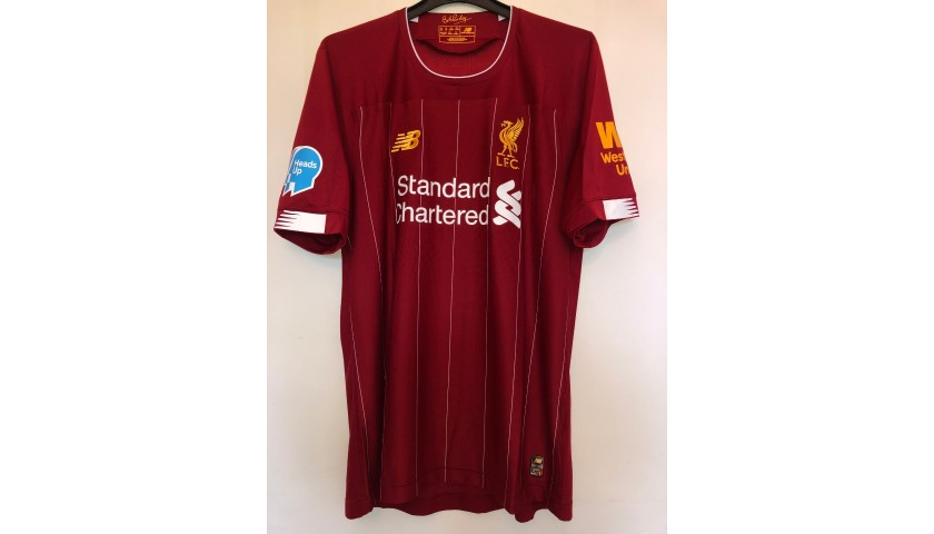 Firmino's Match Shirt, Norwich-Liverpool 2020 - Special Heads Up